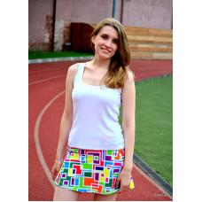 Беговая юбка-шорты Цветная геометрия